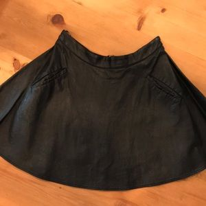 Astr faux leather skirt